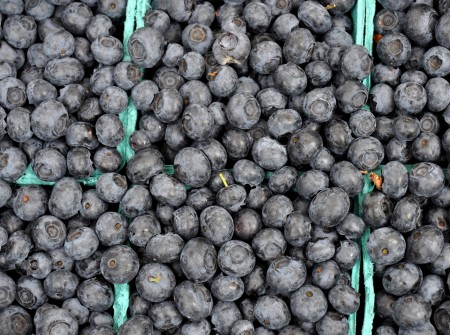 Blueberries from Sidhu Farms. Photo copyright 2013 by Zachary D, Lyons.