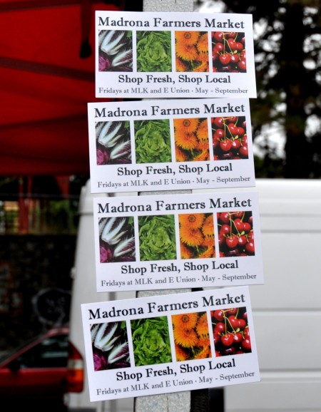 New refrigerator magnets from Madrona Farmers Market. Photo copyright 2013 by Zachary D. Lyons.