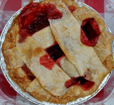 Strawberry rhubarb pie from Simply Soulful. Photo copyright 2014 by Zachary D. Lyons.