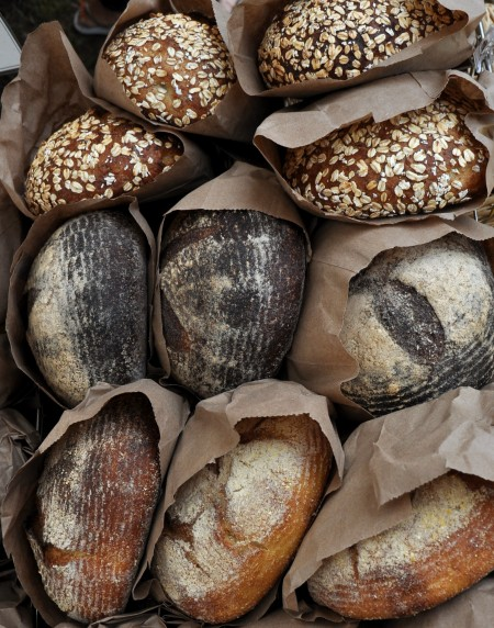 Artisan breads from Tall Grass Bakery at Madrona Farmers Market. Copyright Zachary D. Lyons.