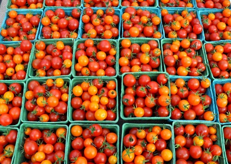 Cherry tomatoes from Gaia's Harmony Farm at Madrona Farmers Market. Copyright Zachary D. Lyons.