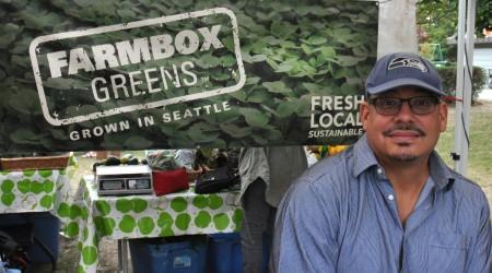 Michael from Farmbox Greens at Madrona Farmers Market. Copyright Zachary D. Lyons.